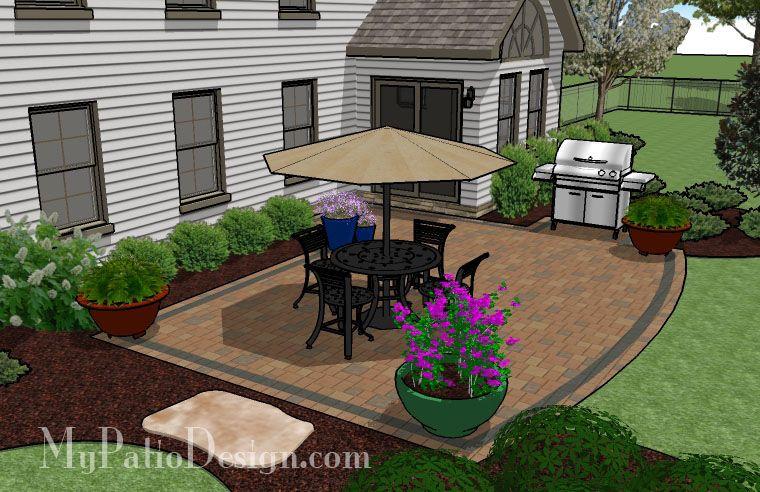 Creative, But Simple Patio | Patio Designs and Ideas ... on Simple Concrete Patio Designs id=15849