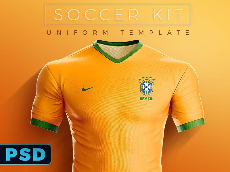 Soccer Kit Uniform Psd Template Soccer Kits Sports Uniform Design Soccer