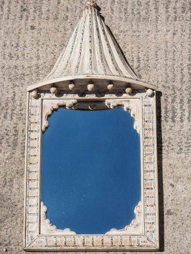 White washed Indian mirror (With images)   Mirror, White ...