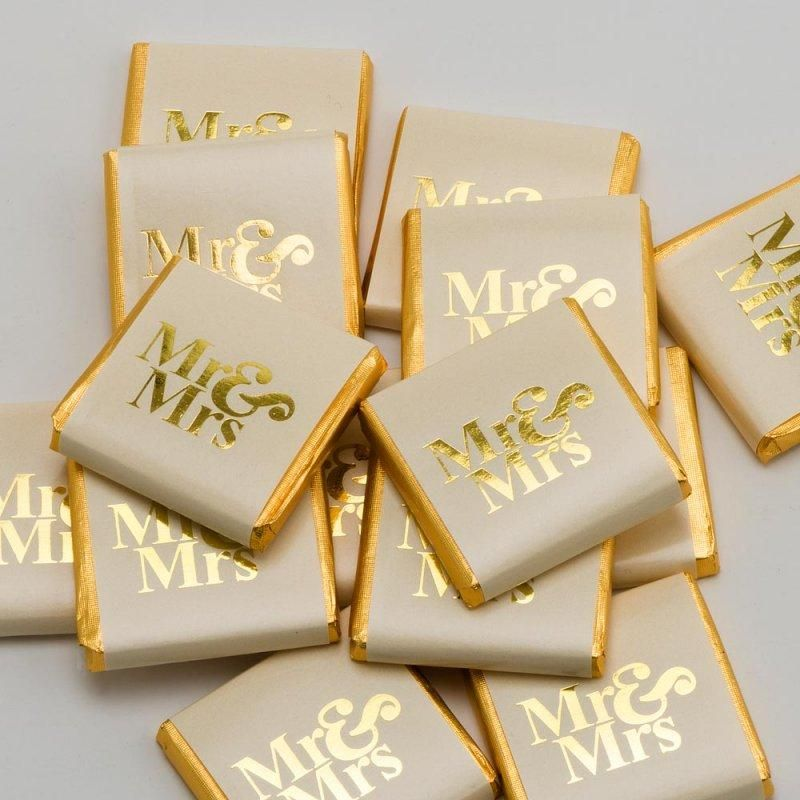 Mr And Mrs Quiz Questions: Mr And Mrs Neapolitans• Packs Of 50• Cream /Gold
