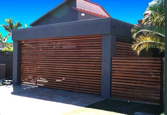Cedar Garage Doors And Gates Gold Coast Supply And Installation Modern Carport Garage Doors Garage Door Design