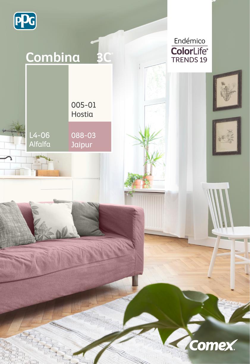 Endemico Es La Tercera Tendencia De Comextrends2019 Una Jungla De Verdes Brill Decoracion De Interiores Salas Casas Pintadas Interior Colores De Interiores