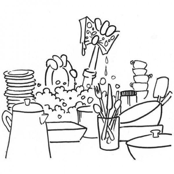 Lavar platos para colorear - Imagui | Ilustracion. ideas de ...