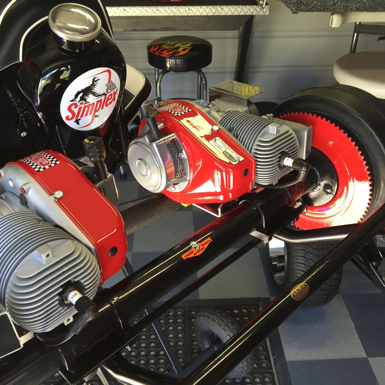 1960 simplex vintage go kart twin engine west bend 580 s. Black Bedroom Furniture Sets. Home Design Ideas