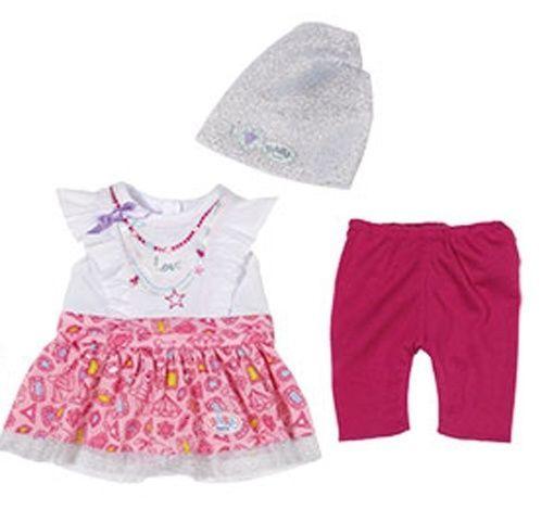 Kleidung & Accessoires Puppen & Zubehör Orig Zapf >>> Baby Born Fashion Girl Kleid mit Hose <<< 43 cm