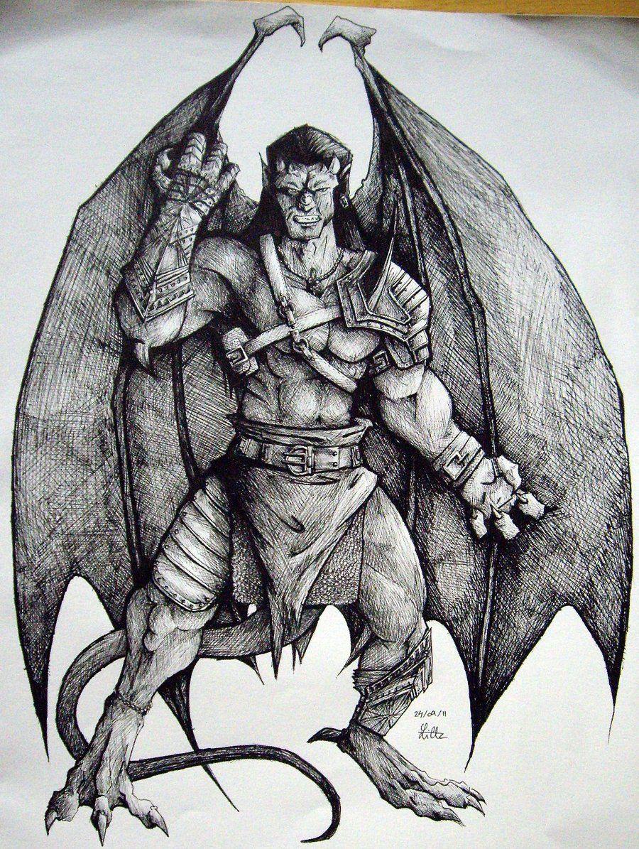 Goliath Gargoyles By Charcoal Almightydeviantartcom On