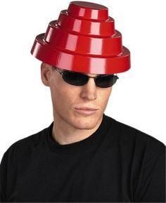 Devo Red Plastic Helmet 80s Hats 2e4eda4f022