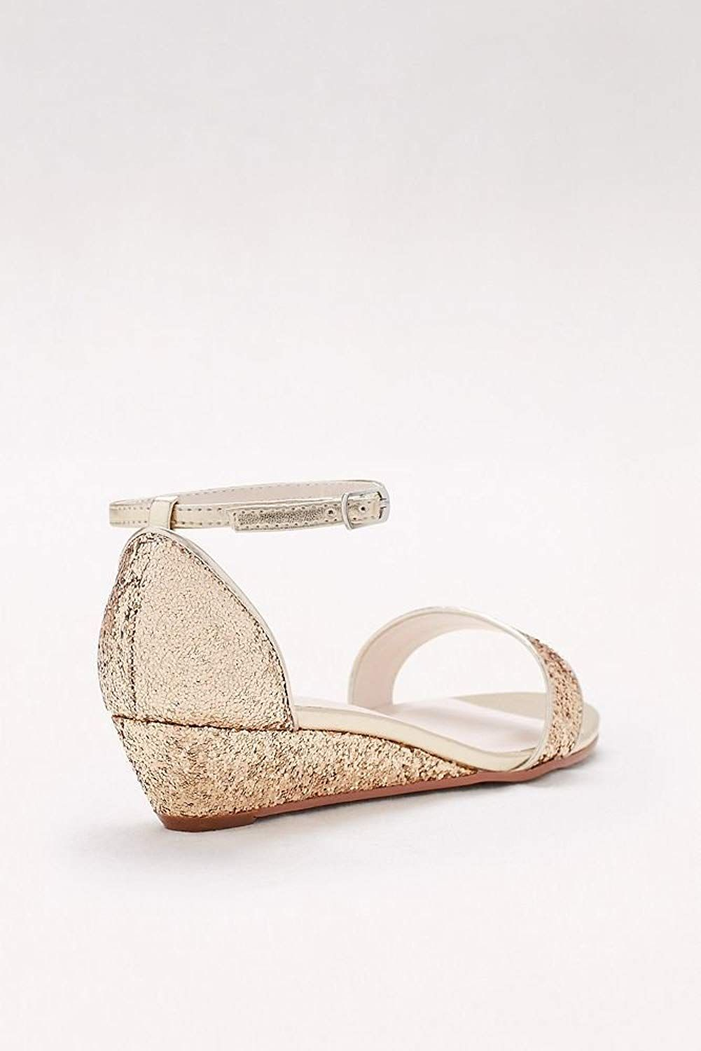 c2ccde7bbd65 David s Bridal Glittery Low-Wedge Sandals Style Maye   Want to know more