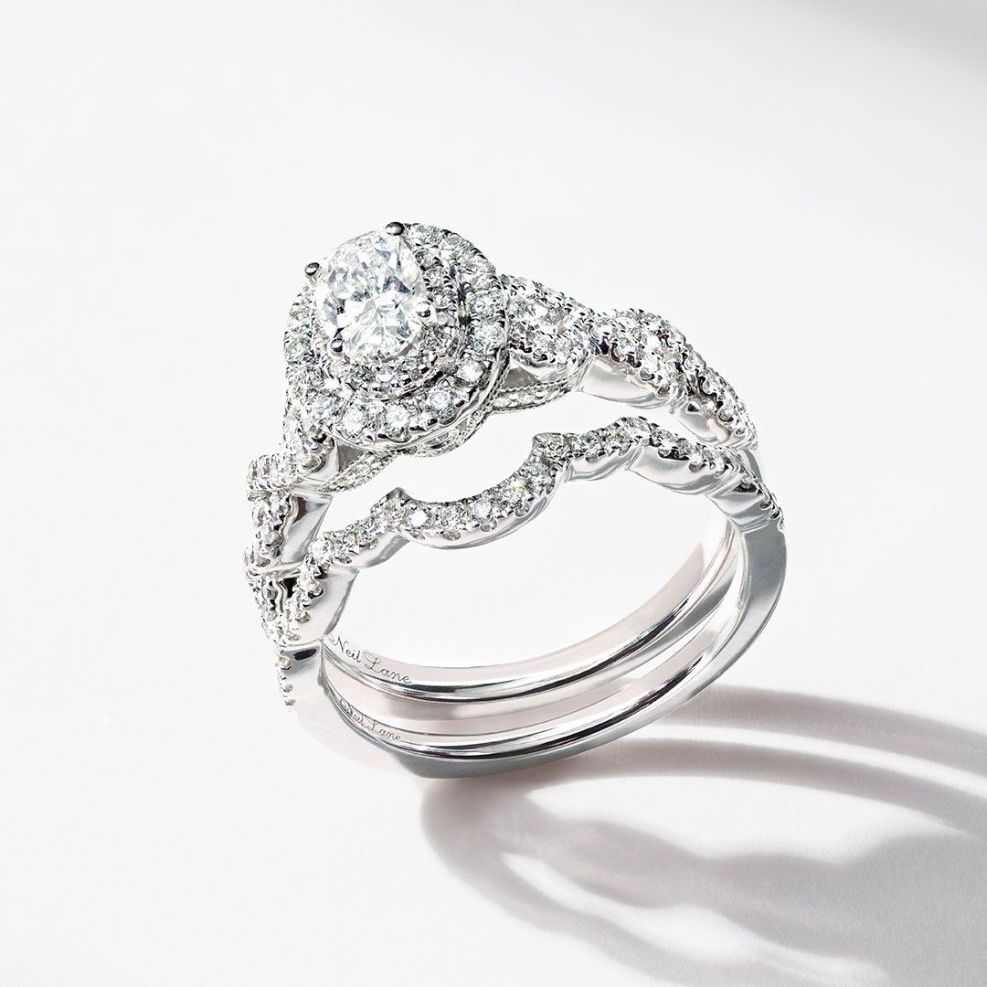 This Oval Neil Lane Diamond Engagement Ring Features A Glamorous