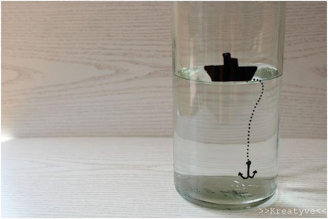 Glas Bemalen Flasche Diy A