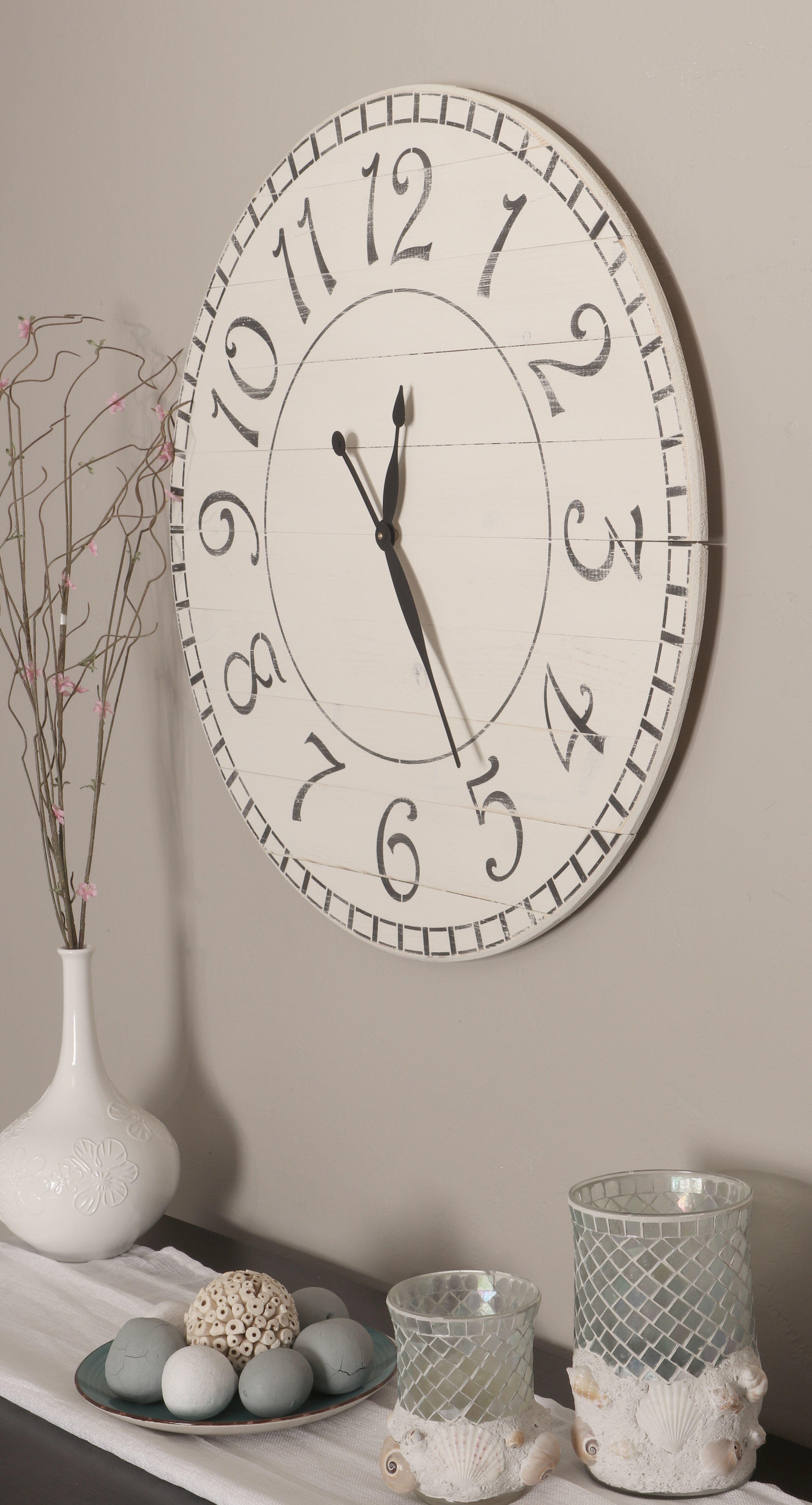 Oversized Negron Antique Farmhouse Wall Clock Wall Clocks Living Room Clock Wall Clock