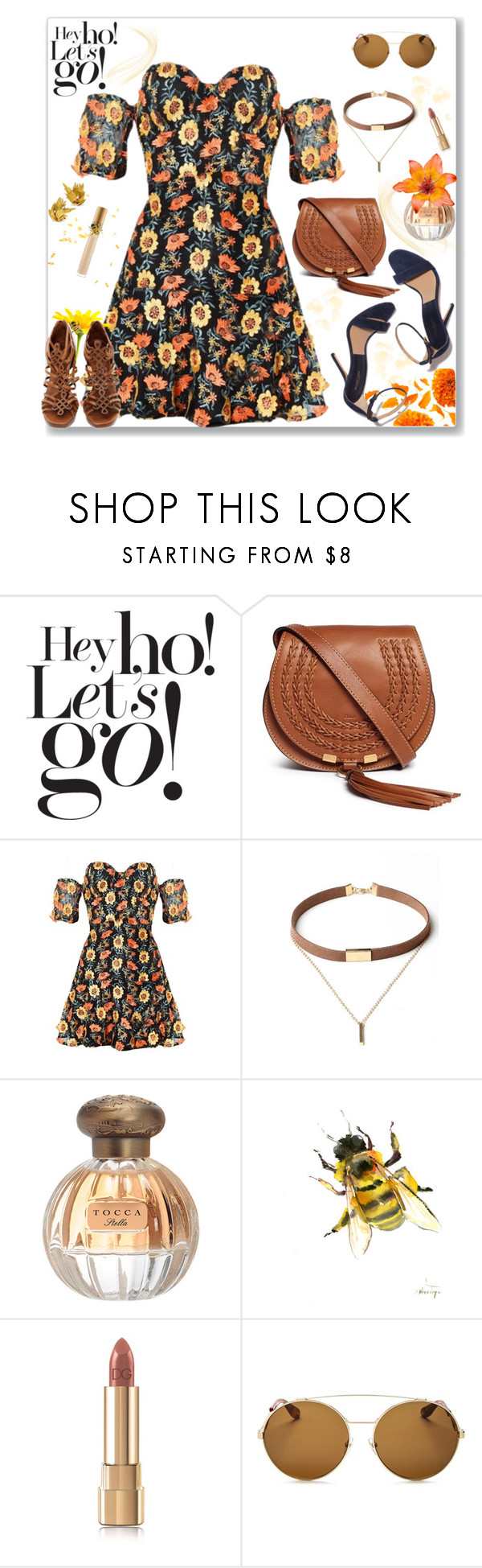 """The Perks Of Being A Wallflower"" by ladylillie ❤ liked on Polyvore featuring Damaris, Chloé, For Love & Lemons, WithChic, Tocca, Diane Von Furstenberg, MAC Cosmetics, Dolce&Gabbana and Givenchy"