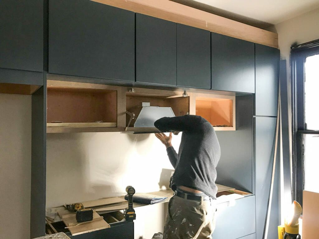 How To Install A Hidden Range Hood In Your Kitchen Beginning In The Middle Modern Kitchen Renovation Range Hood Hidden Kitchen