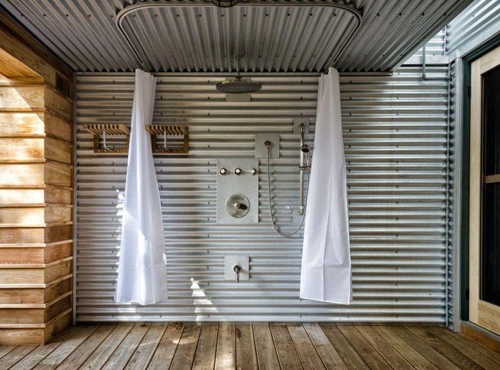 Corrugated metal shower bathroom pinterest - Corrugated iron home designs ...