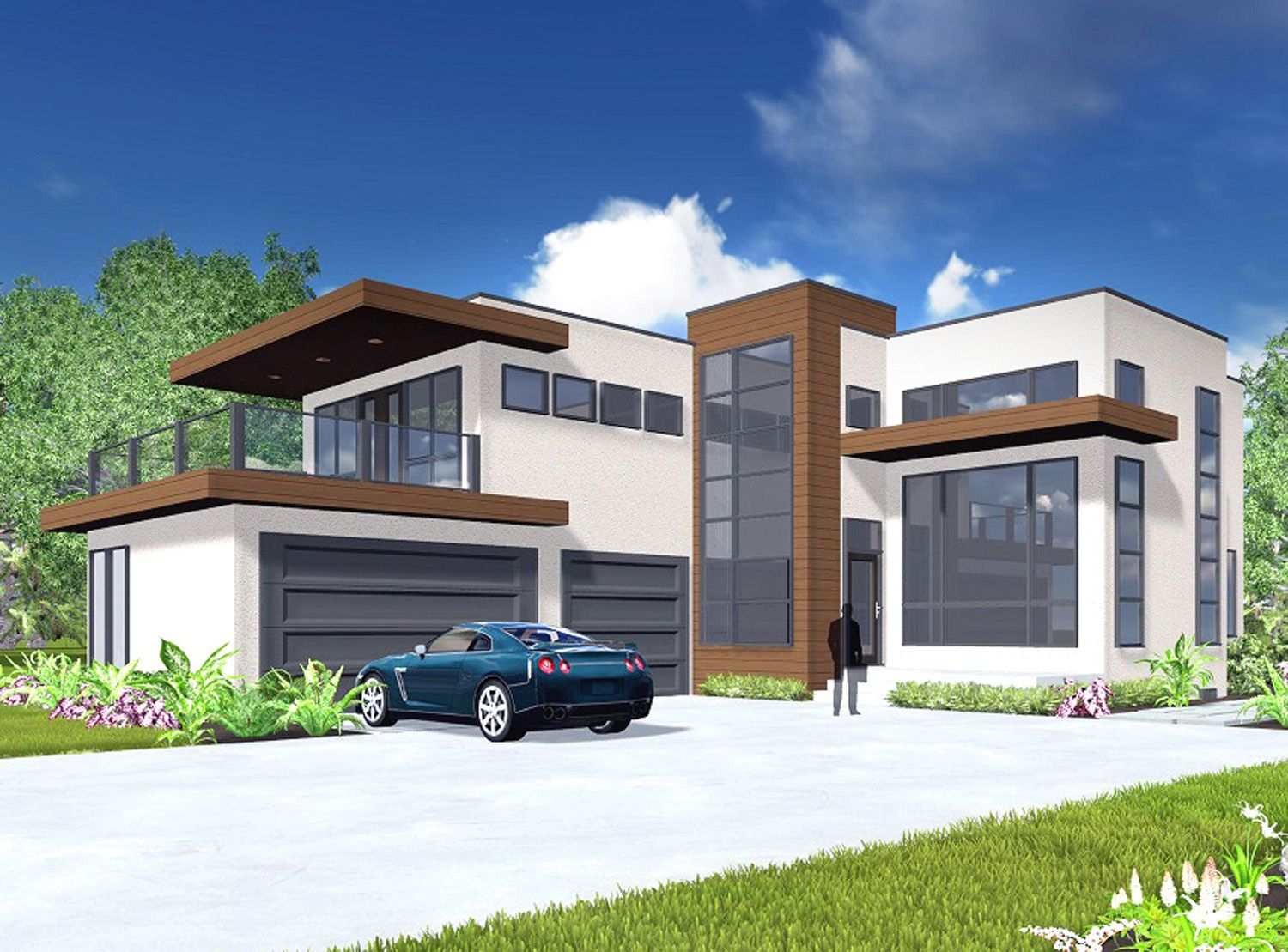 Plan 81647ab Modern Living With Private Master Suite