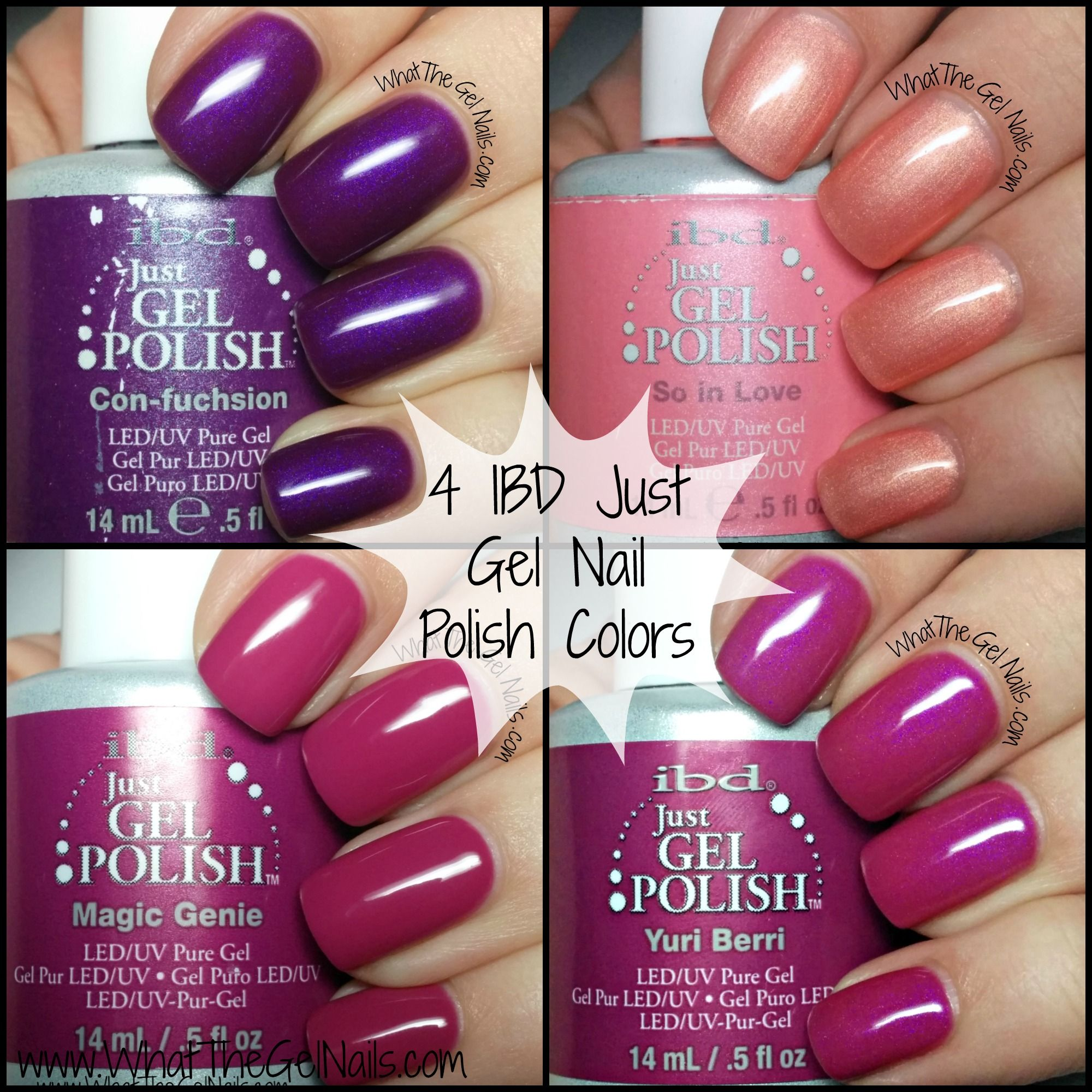 Purple Gel Nail Polish: Swatches Of Some Great Purple And Pink IBD Just Gel Nail