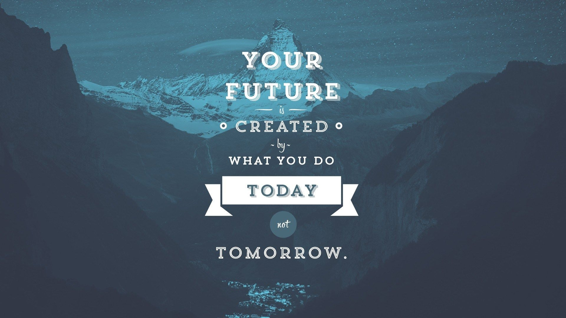 Your Future Is Created By What You Do Today Not Tomorrow Wise Words Wallpaper Quotes