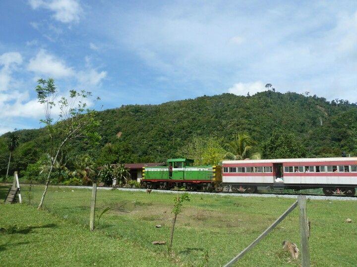 Rural train in Padas, Sabah, Malaysia