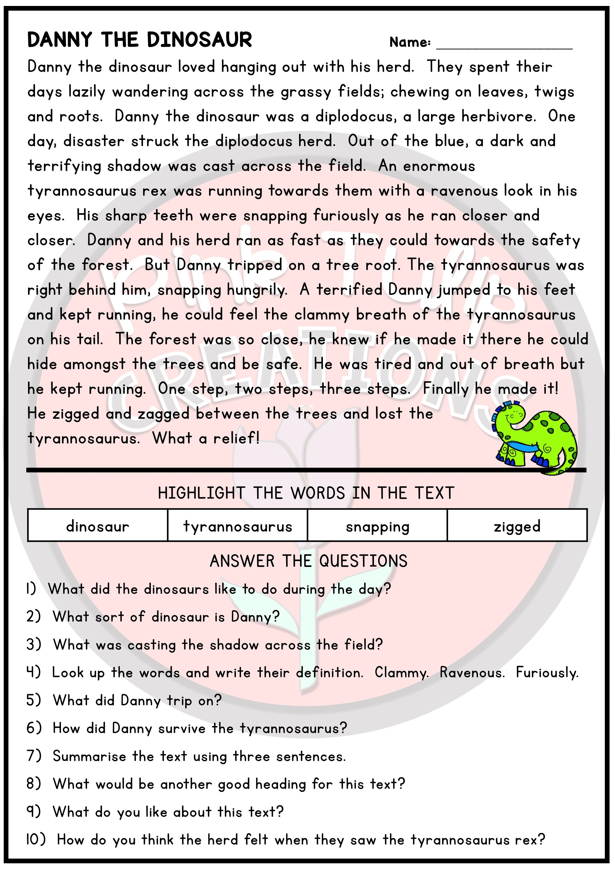Comprehension Reading Worksheet This Worksheet Will Help To Reinforce The Different Reading S Reading Comprehension Comprehension Worksheets Reading Passages [ 3508 x 2480 Pixel ]