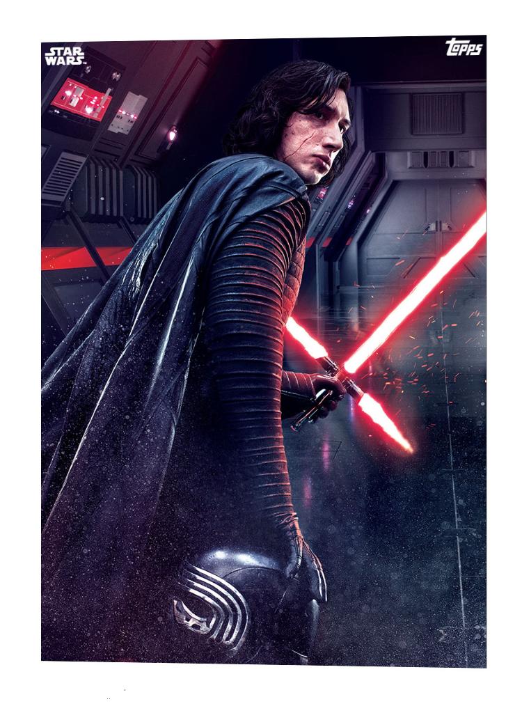 Topps The Last Jedi Card Art Star Wars Models Star Wars Kylo Ren Trends International