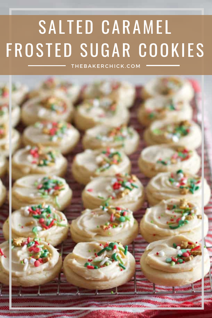Salted Caramel Frosted Sugar Cookies Recipe Holiday Christmas