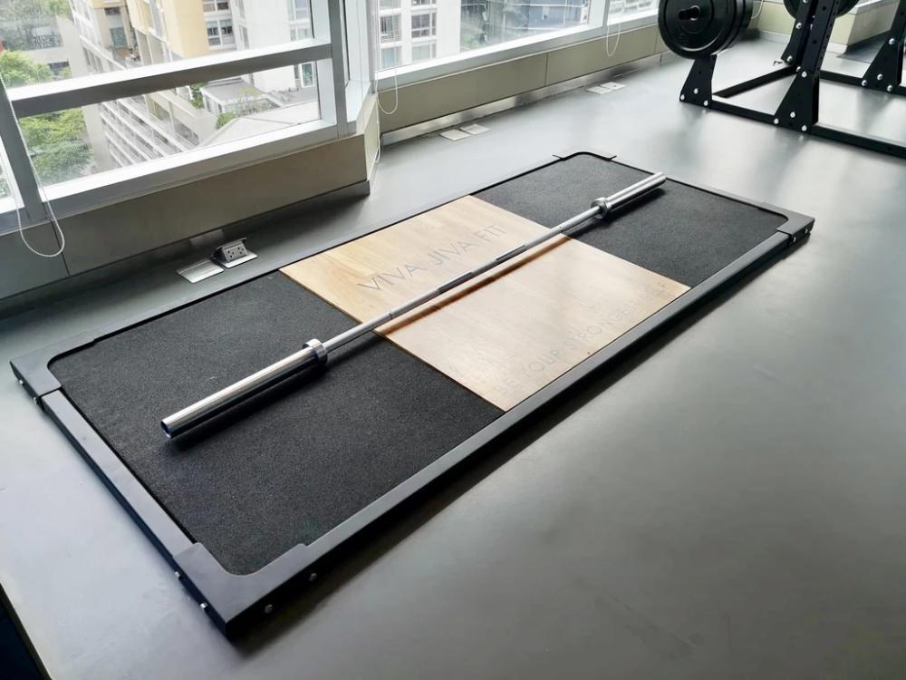 Pin By Hug Vazquez On Gym Equipment In 2020 Deadlift Platform Bar Flooring Rubber Tiles