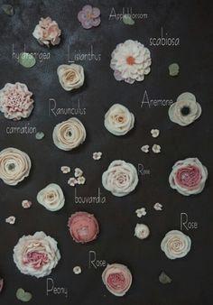 오르세플라워케이크) 앙금플라워 맵..장미, 작약, 아네모네, 리시안셔스, 라너큘러스, 수국, 애플블라썸, 부바르다아 등 앙금꽃 : 네이버 블로그