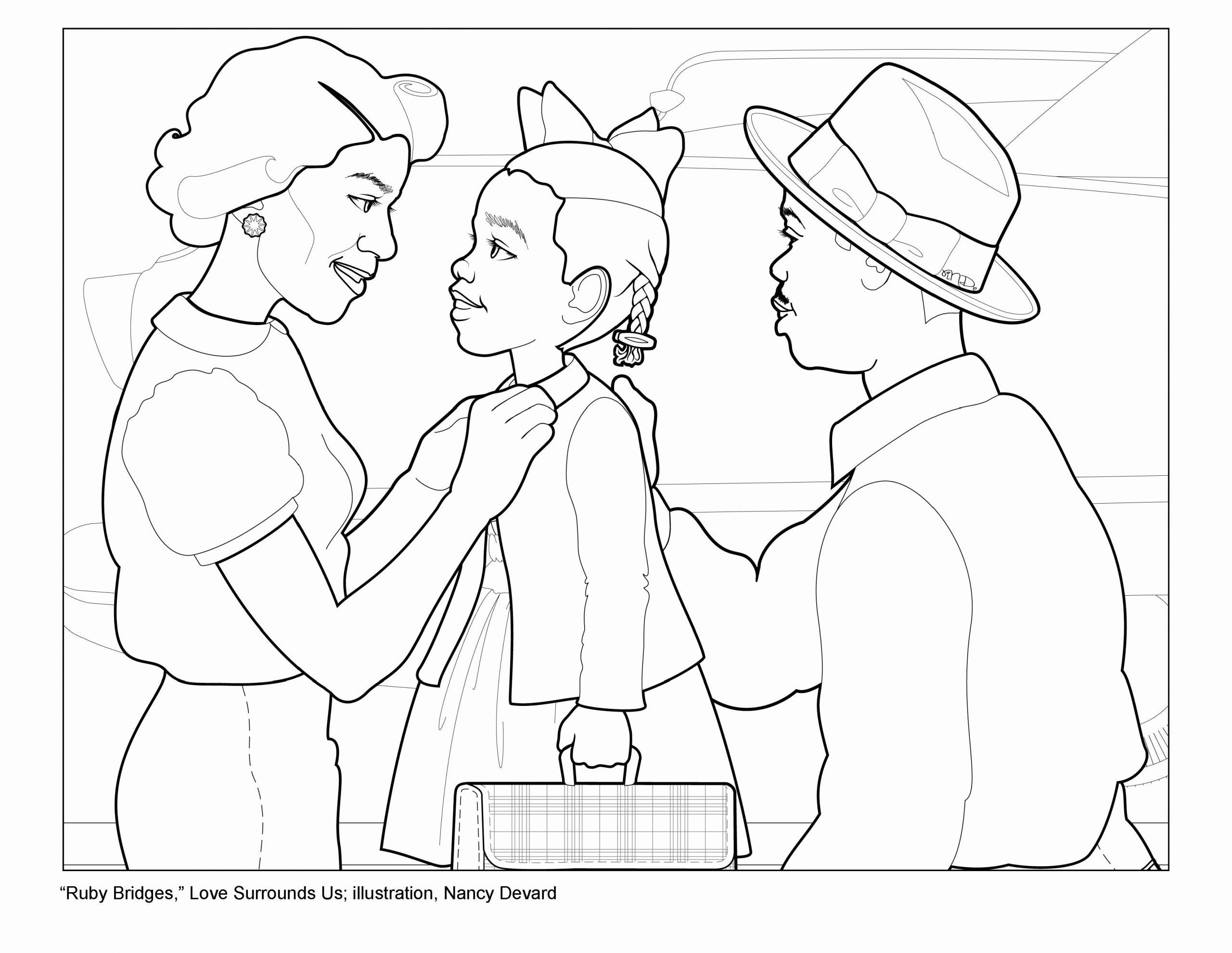Ruby Bridges Coloring Page Unique Activity 1 Story Ruby