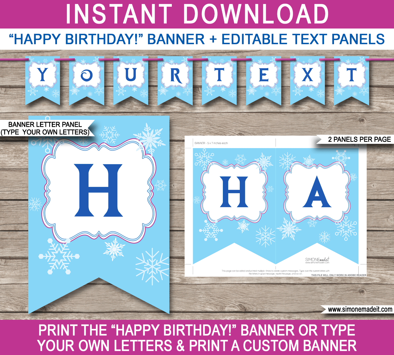 Frozen Party Banner Template Free Birthday Banner Printable Banner Template Happy Birthday Banners