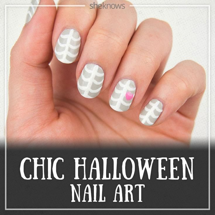 How to create a sweet take on a skeleton nail design for halloween how to create a sweet take on a skeleton nail design for halloween prinsesfo Images