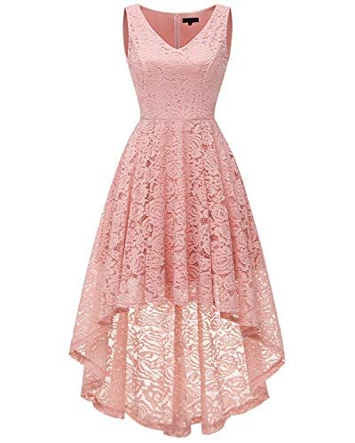 ad9da77091 New Bridesmay Bridesmay Women s Elegant V-Neck Vintage High Low Sleeveless  Floral Lace Cocktail Party Swing Dress. womens dresses   29.99 - 35.19  from  top ...
