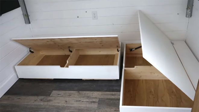 Brilliant Tiny House Features 500 Diy Elevator Bed Built