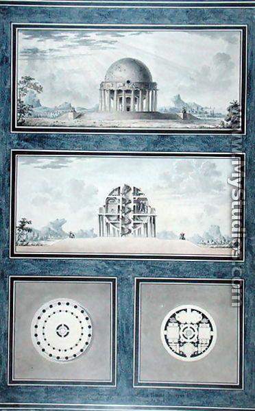 Design for a house for a cosmopolite, 1783 - Antoine Laurent Thomas Vaudoyer