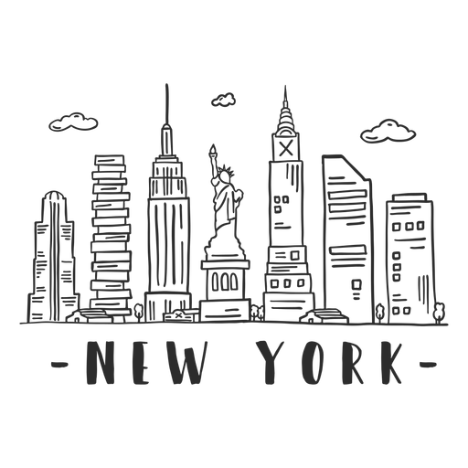 New York Statue Of Liberty Empire State Building Big Apple Spire Business Center Sky Scraper Mall Cloud Skyline St New York Drawing New York Statue Nyc Drawing