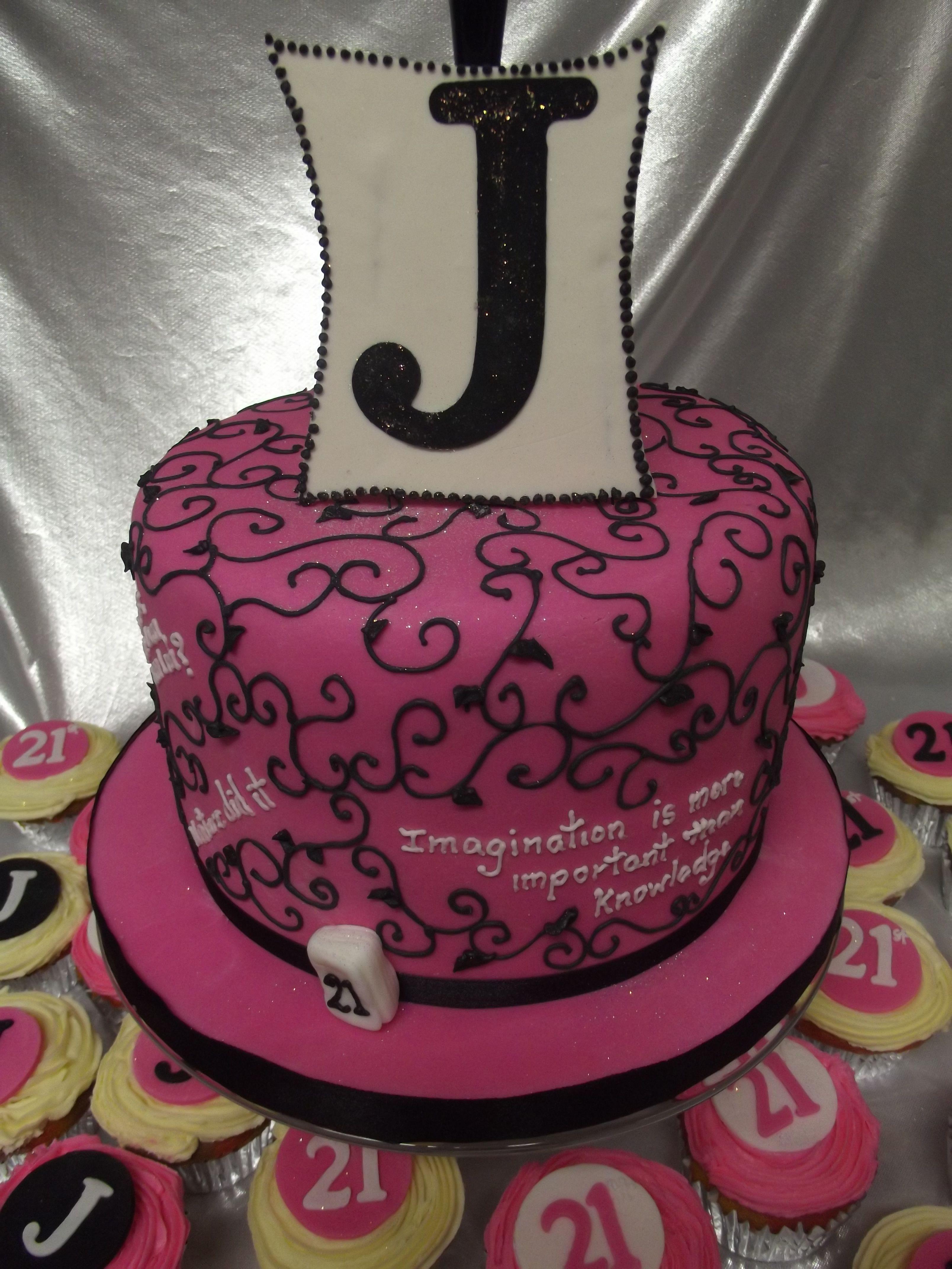 21st Swirl cornelia design cake 21st Birthday cake For a