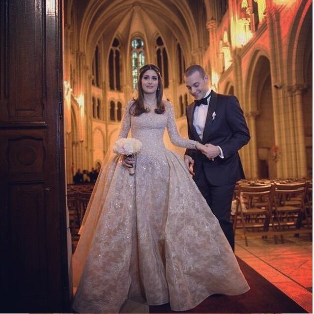 ab4f85f0d0d Newest Winter Wedding Dresses 2016 Long Sleeve Detachable Train W1535 Sheath  Lace Bridal Gowns Sheer Luxurious Arabic Vintage Shiny Fashion Grecian  Wedding ...