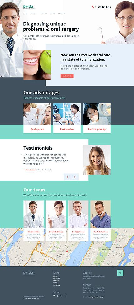 Dental Clinic Website Template Themes Business Responsive We Custom Dental Office Website Design