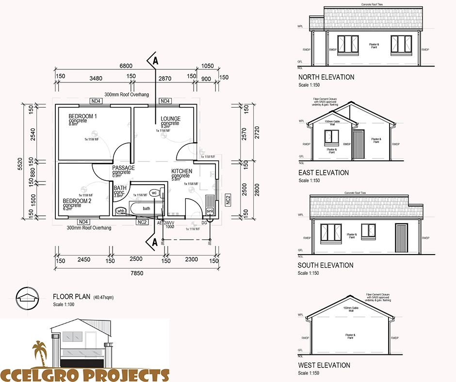 How much does it cost to draw a house plan in south africa for Cost to draw house plans