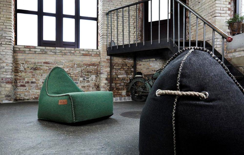RETROit Cobana Outdoor-Sitzsack, grün Sitzsäcke, moderne - modernes wohnzimmer grun