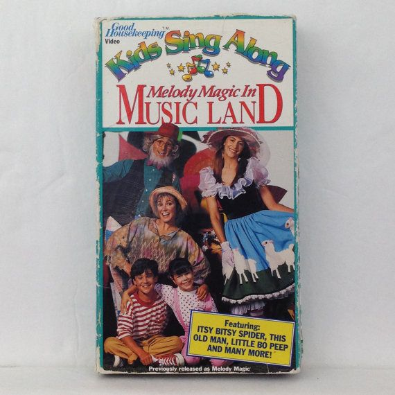 melody magic in music land kids sing along vhs tape sing along video 1991 good housekeep. Black Bedroom Furniture Sets. Home Design Ideas