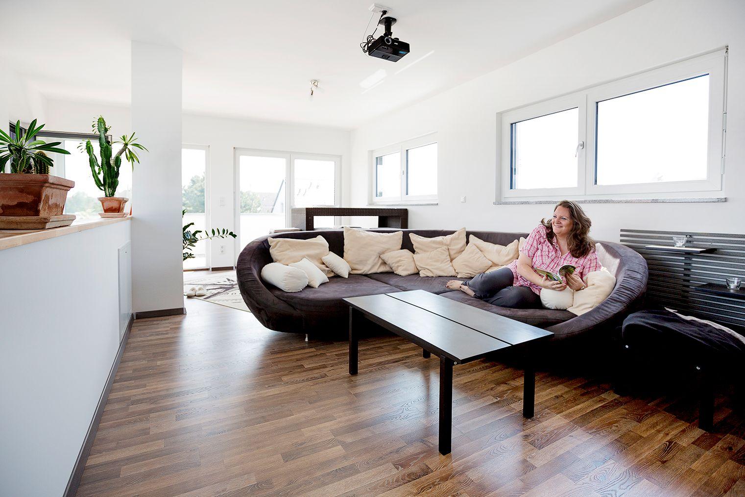 Haus Orchis FischerHaus Fertighaus Wohnzimmer #Wohnzimmer #Sofa ...
