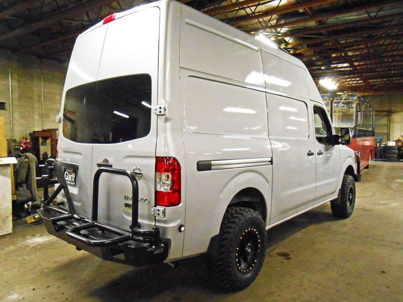 Nissan Nv Aluminum Rear Bumper Nissan Camper Conversion Van Life