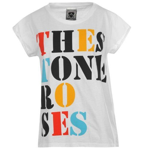 Amplified Stone Roses Bye T-Blouse Ladies The Amplified Stone Roses Bye T-Blouse Ladies options a big typography image print to the chest for all Stone Roses lovers. This ladies t-shirtladies t-Blouse includes a Group neck collar and Quick sleeves for a co ...