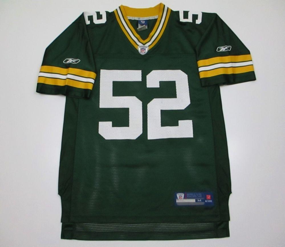 53b370f36 Green Bay Packers NFL jersey M medium green Reebok Clay Matthews 52  Reebok   GreenBayPackers