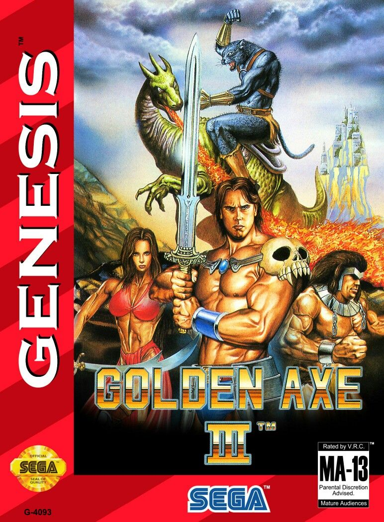 Retro Golden Axe Game Poster////Sega Game Poster////Video Game Poster////Vintage Game