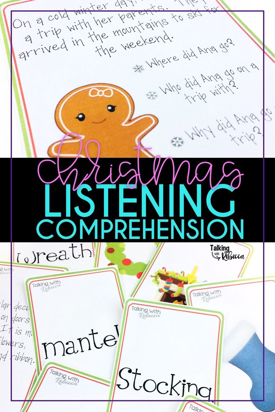 Christmas Story Comprehension | Comprehension, Speech therapy activities, A christmas story