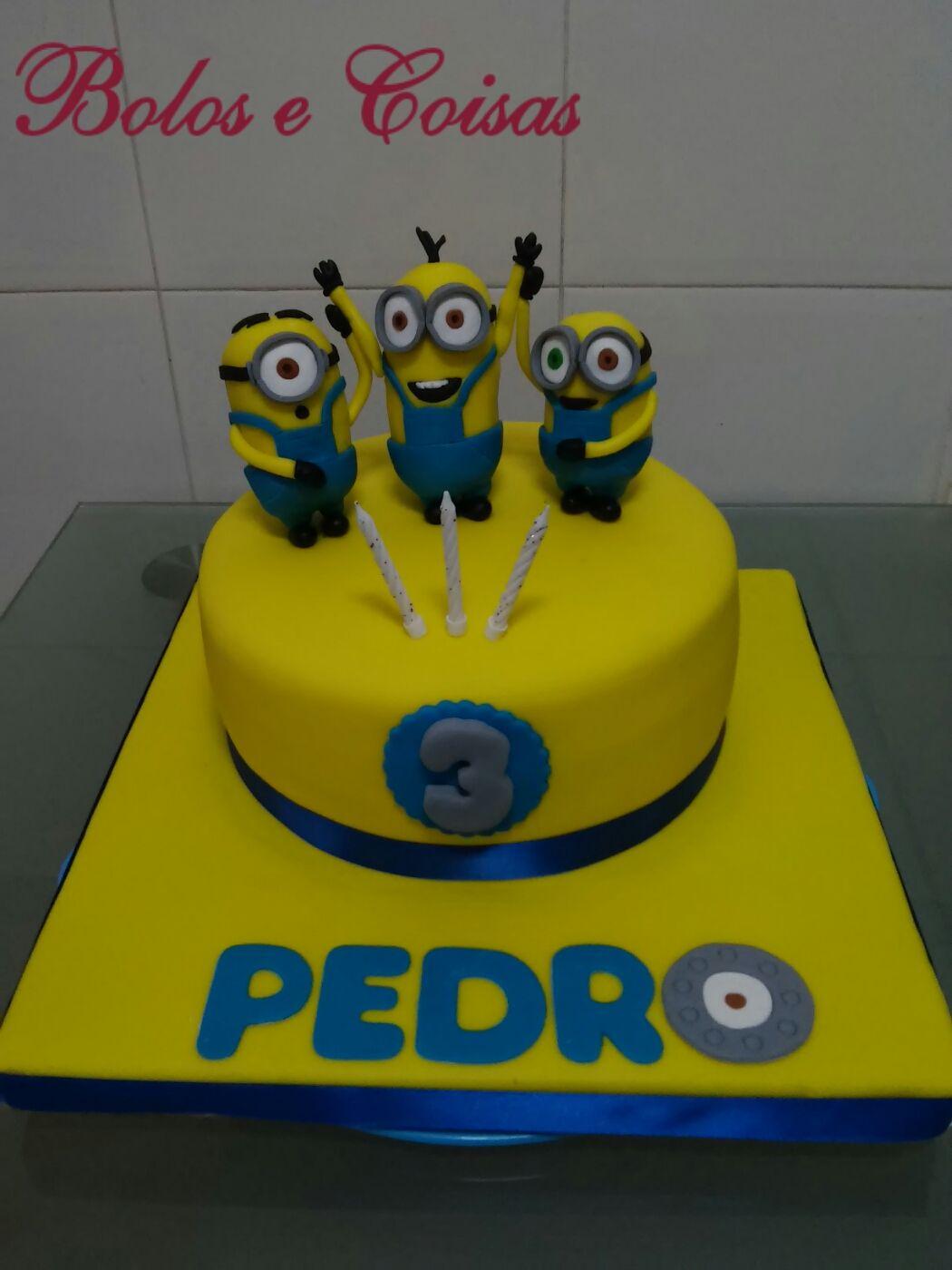 Bolos e coisas - Bolos decorados (Cake Design): Minions * Pedro