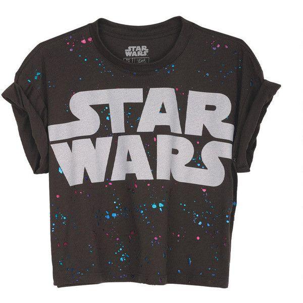 Splatter Star Wars Crop Tee (41 SEK) ❤ liked on Polyvore