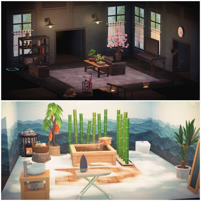 Living Room And Bathroom Complete Animalcrossing In 2020 Animal Crossing Pc New Animal Crossing Animal Crossing Game