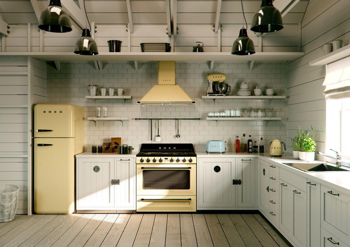 Smeg Küche | Küche | Pinterest | Landhausstil, Landhäuser und ...